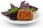 Spicy Roast Pork tenderloin — Stock Photo