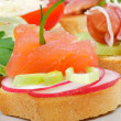 Appetizer of Smoked Salmon closeup — Stock Photo #11456299