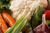Raw Vegetables Background — Stock Photo