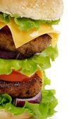 Tasty Double Cheeseburger — Zdjęcie stockowe