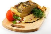 Homemade roast pork — Stock Photo