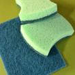 Green wool for cleaning — Stock Photo