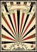 Cirkus vinobraní sluneční paprsky — Stock vektor