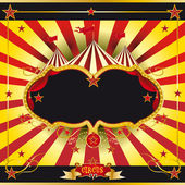 Red and yellow circus leaflet — Stock Vector