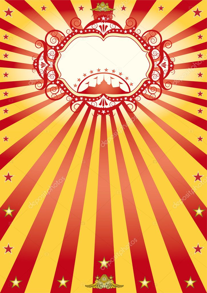 A new circus poster with sunbeams. — Stock Vector #10756960