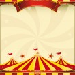 Red and yellow Top circus poster - Stock Vector