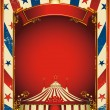 Stock Vector: Nice vintage circus background with big top
