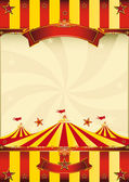 Red and yellow Top circus poster — Stockvector
