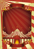 Mooie circus big top — Stockvector