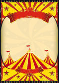 Circus poster big top — Stock Vector