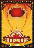 Nice orange and black circus poster — Stock Vector