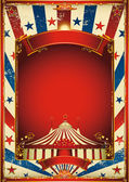 Nice vintage circus background with big top — Stock Vector