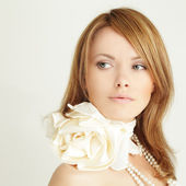 Young woman - beautiful female face — Stockfoto