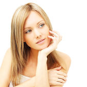 Cute woman with clean skin - female beauty — Stock Photo