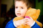 Little boy with teddy bear — Stock Photo