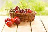Välsmakande och färska körsbär — Stockfoto