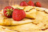 Pancakes and fresh strawberry — Foto de Stock