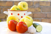 Preparation of fresh vegetables — Stock Photo