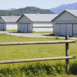 Utility Farm Buildings - Stock Photo