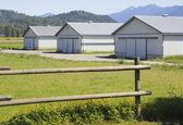 Yeni çiftlik binaları — Stok fotoğraf