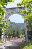 Historic Alexandra Bridge in British Columbia — Stock Photo