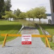 Flooded Area Barrier - Stock Photo