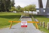 Flooded Area Barrier — Stock Photo