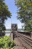 Railway Swing Bridge — Stock Photo