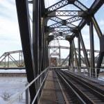 An Open Swing Bridge — Stock Photo