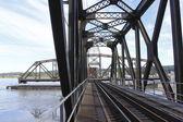 Uma ponte de balanço aberto — Foto Stock