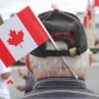 A Patriotic Canadian Senior — Stock Photo
