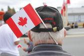 A Patriotic Canadian Senior — Stock Photo