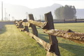 Rustic Wooden Fence — Stock Photo
