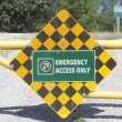 Emergency Access Only Sign — Stock Photo