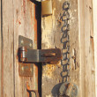 Locks on an old shed door — Lizenzfreies Foto