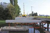 Small Bridge Deck Construction — Stock Photo