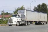Semi Trailer Truck or Rig — Stock Photo