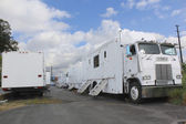 Film Industry mobile trucks — Stock Photo