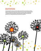 Vector flowers invitation card — Stock Vector