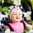 Bright closeup portrait of adorable baby — Stock Photo