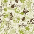 Royalty-Free Stock Vectorielle: Seamless background with leaves and branches
