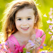 Royalty-Free Stock Photo: Portrait of little girl outdoors in summer