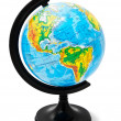 Physical globe isolated on a white — Stock Photo