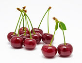 Wet cherry isolated on a white — Stock Photo