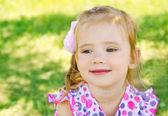 Outdoor portrait of little girl — Stock Photo