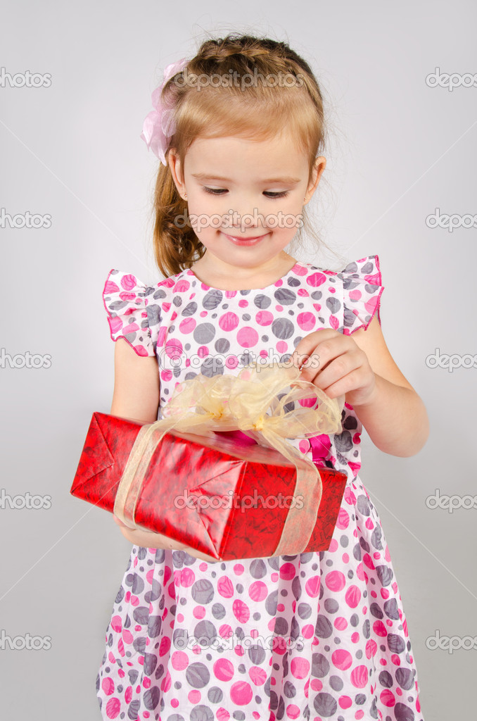 Gifts For Little Girls Girl Opening Gift Box