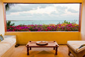 Magnificient Caribbean oceanview from room — Stock Photo