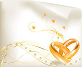 Wedding rings — Stock Vector