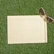 Blank Paper On Grass — Stock Photo