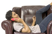 Man Calling His Friend — Stock Photo